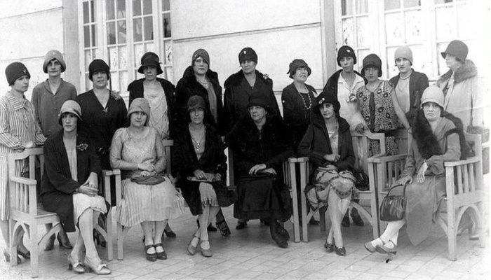 Primeiras eleitoras do Brasil, em 1928. Foto: Arquivo Nacional