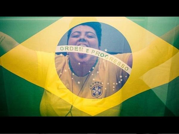 Cantora Ana Vilela faz versão de Trem-bala para homenagear jogadores. Foto: Instagram/Reprodução