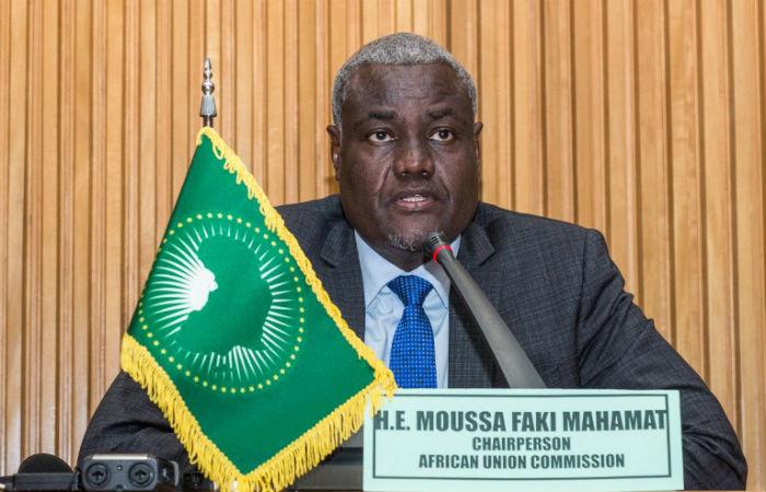 Representante da União Africana falou sobre acordo em coletiva de imprensa Foto: Maheder HAILESELASSIE TADESE / AFP