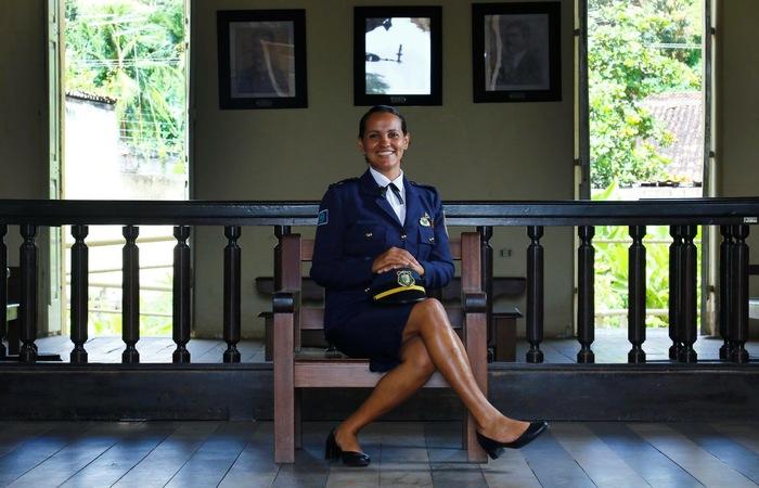 Rebeca passou no concurso público da Guarda Municipal de Paudalho em 2005. Imagens: Marlon Diego/Esp DP