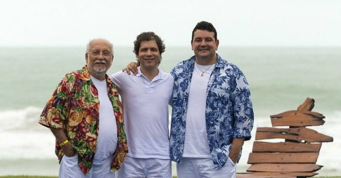 Roberto Menescal, Luciano Magno e André Rio. Foto: Divulgação