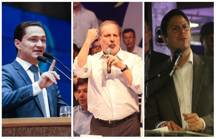 Bruno quer disputar o Senado na chapa de Armando, com André saindo para deputado. Foto: Marlon Diego/Nando Chiappetta/Roberto Soares/Alepe/Divulgação