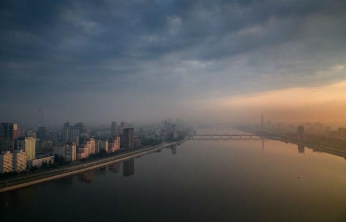 Visão aérea de Pyongyang, na Coreia do Norte Foto: Ed JONES / AFP