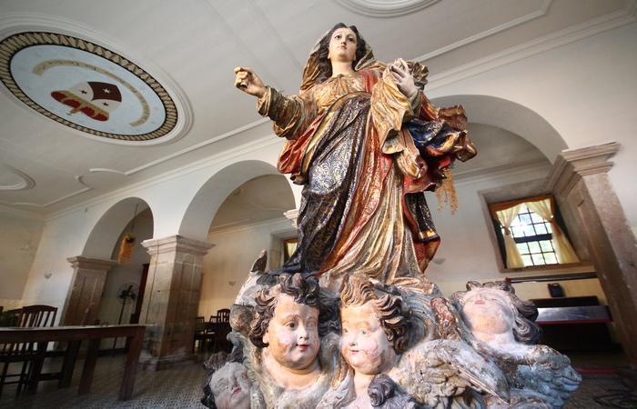 Nossa Senhora do Carmo é homenageada por fiéis no Recife. Foto: Karina Moraes/Esp DP