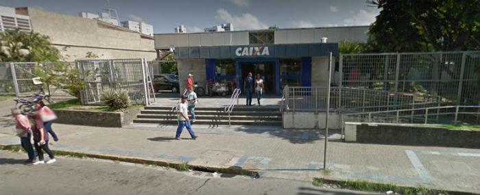 Em 7 de  janeiro deste ano, a mesma agência foi alvo de arrombamento. Foto: Google Street View.