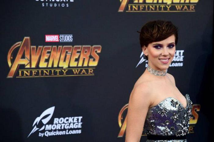 A atriz na estreia do filme Vingadores: Guerra Infinita (foto: FREDERIC J. BROWN/AFP)