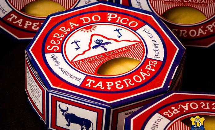 A ilustração nas embalagens de todos os queijos são de Ariano Suassuna. Foto: Laticínios Grupiara/Divulgação