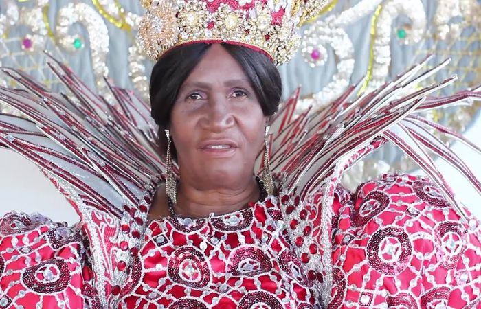 Marivalda, Rainha da Nação Estrela Brilhante. Foto: Reprodução/Facebook