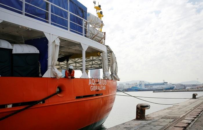 Barco de resgate de migrantes Aquarius - FOTO: AFP / PAU BARRENA / DIVULGAÇÃO   (Barco de resgate de migrantes Aquarius - FOTO: AFP / PAU BARRENA / DIVULGAÇÃO  )
