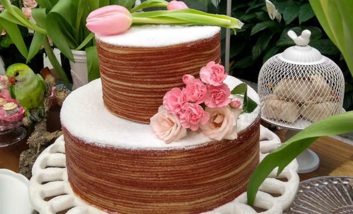 Naked cake de bolo de rolo é uma das novidades. Foto: Casa do Bolo de Rolo/Divulgação