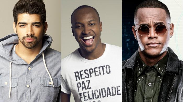 Dilsinho, Thiaguinho e Léo Santana são algumas das atrações. Fotos: Samba Recife/Divulgação