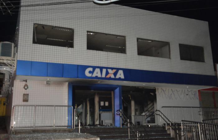 Prédio da Caixa que os ladrões tentaram roubar em Ponte dos Carvalhos. Imagem: PF/Divulgação