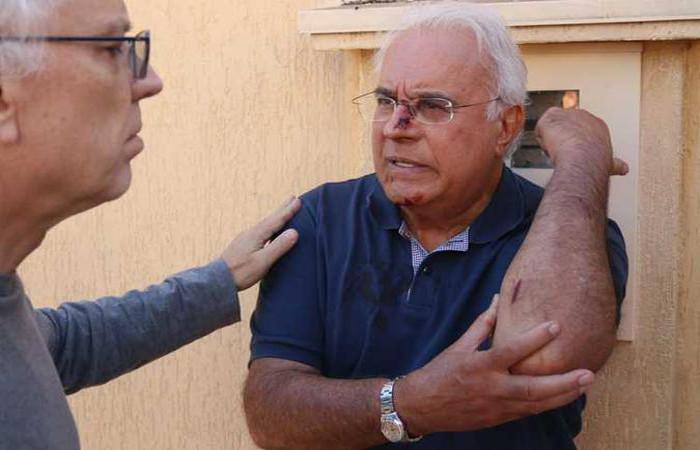 Desembargador Pedro foi rendido quando chegava em casa e levou uma coronhada no nariz. Foto: Arthur Menescal/Esp.CB/D.A Press