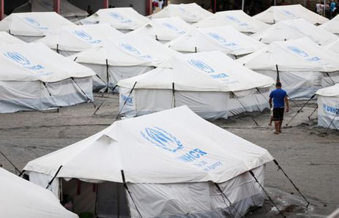 Imigrantes venezuelanos são abrigados em instalações provisórias em Boa Vista. Foto: Marcelo Camargo/Agência Brasil