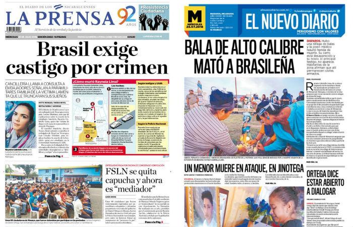 Foto: La Prensa e El Nuevo Diario / Reprodução