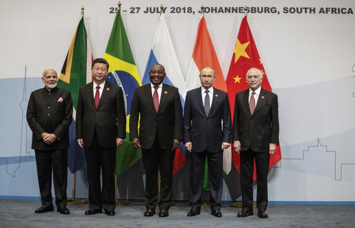 A agremiação dos países foi diplomaticamente criada, no esteio da crise financeira internacional de 2008. Foto: Gianluigi GUERCIA / POOL / AFP