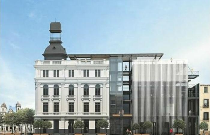 Proposta que ganhou projeto para revitalização do prédio do Diario de Pernambuco Foto: Leo Malafaia / Esp. DP