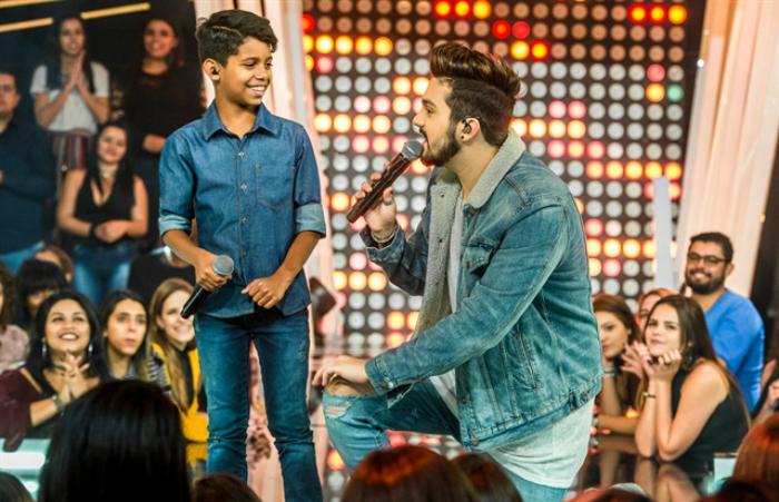 MC Bruninho e Luan Santana. Foto Globo/Fábio Rocha