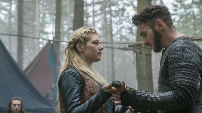 Jonathan Rhys Meyers, protagonista de The Tudors, ganhou espaço em Vikings na quinta temporada. Foto: History/Divulgação.