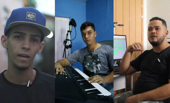 O projeto visitou estúdios localizados em bairros como Ibura, Cajueiro e Várzea. Foto: Marlon Diego/Esp. DP e YouTube/Reprodução