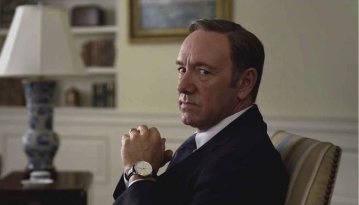 Frank Underwood é interpretado por Kevin Spacey, afastado por causa de denúncias de assédio sexual. Foto: Reprodução/Netflix