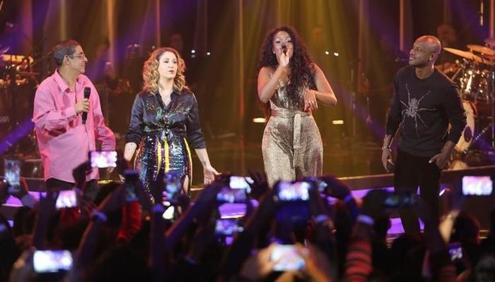 Episódio que homenageou o samba contou com a presença de Zeca Pagodinho, Maria Rita e Tiaguinho. Foto: Multishow/Reprodução