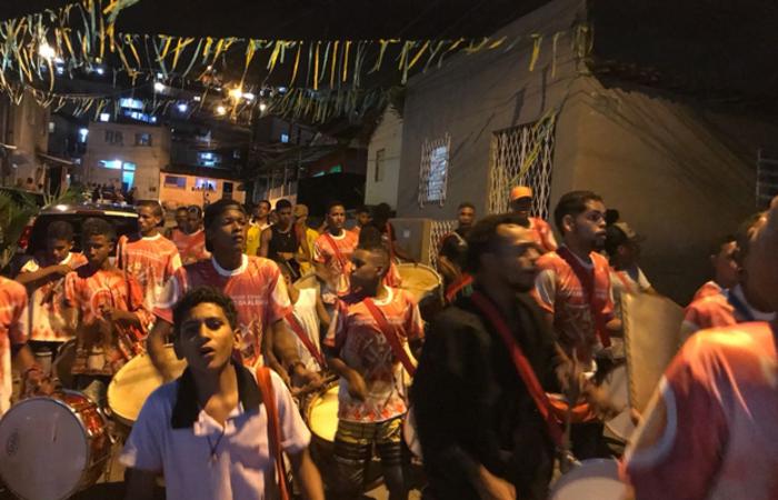 Maracatu Encanto da Alegria na Comunidade da Mangabeira, Zona Norte do Recife. Foto: Cortesia/WhatsApp
