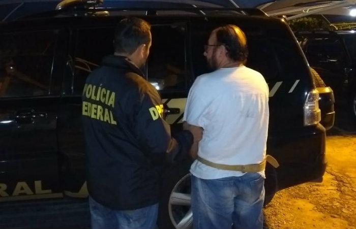 Adalberto não reagiu a prisão ao ser abordado em Tabuleiro dos Martins, em Maceió. Foto: PF/Divulgação