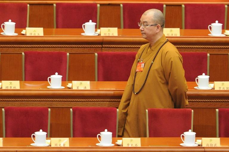 O mestre Xuecheng participa de uma reunião da Conferência Consultiva Política do Povo Chinês (CPPCC) em, Pequim, em 3 de março de 2014. Foto: AFP/Arquivos / WANG ZHAO