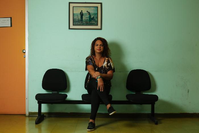 Espaço Trans do HC abriu as portas do mercado de trabalho para Ericka Gomes. Crédito: Marlon Diego/Esp. DP (Crédito: Marlon Diego/Esp. DP)