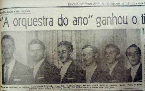 Geraldo Rocha e sua banda no Diario de Pernambuco, 11 de janeiro de 1959.