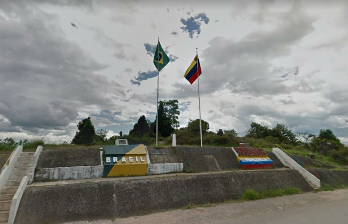 Fronteira entre Brasil e Venezuela Foto: Google Street View / Reprodução