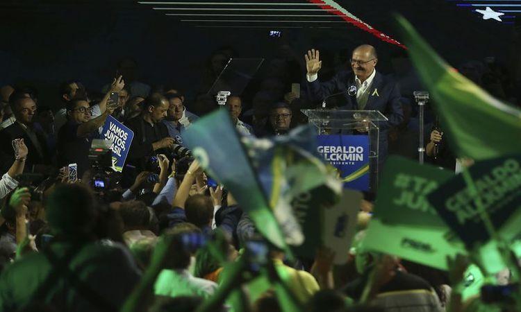 Convenção Nacional do PSDB, em Brasília, lança Geraldo Alckmin como seu candidato à Presidência da República - José Cruz/Agência Brasil