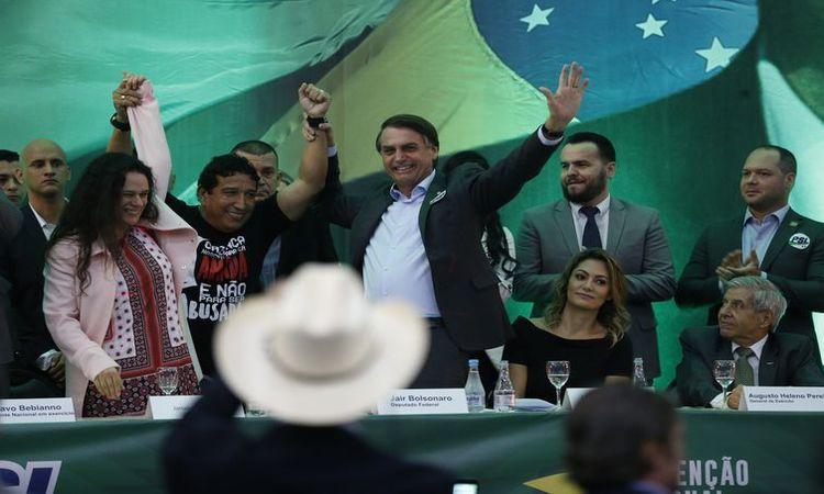 PSL lança candidatura de Jair Bolsonaro à Presidência da República - Fernando Frazão/Agência Brasil
