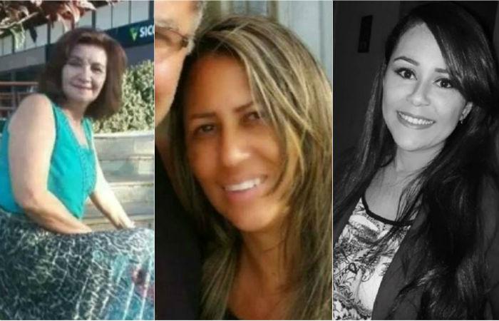 Na ordem: Marilia Jane Sousa, assassinada pelo marido; Adriana Castro, também assassinada pelo marido; Whailly Mendes, que sobreviveu após ser esfaqueada pelo namorado Foto: Arquivo pessoal / Reprodução