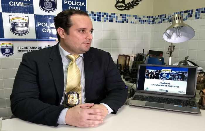 Delegado Igor Leite, responsável pelo caso. Foto: Divulgação/PCPE