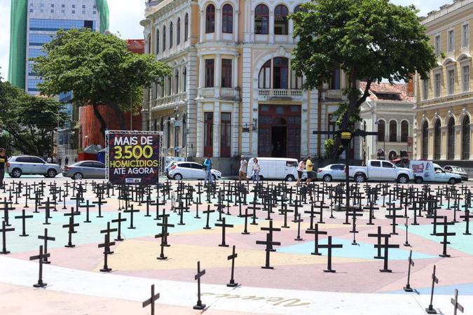 Protesto pelo país: população sofre com o aumento de assassinatos, estupros e violência doméstica. Foto: Anderson Freire/Esp. DP