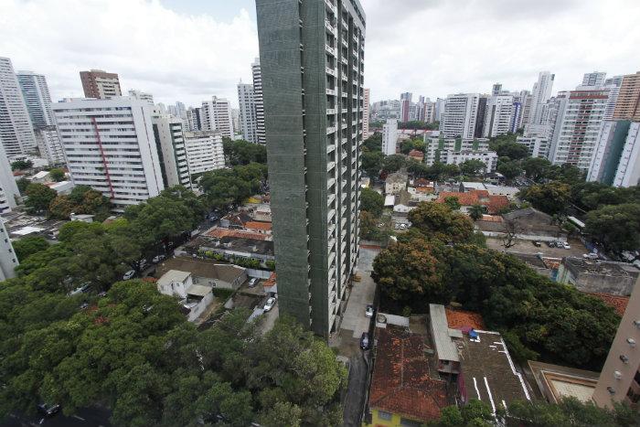 Oitizeiros, que formam túneis verdes em alguns pontos, são da espécie mais plantada no bairro da Zona Norte. Foto: Thalyta Tavares/Esp. DP
