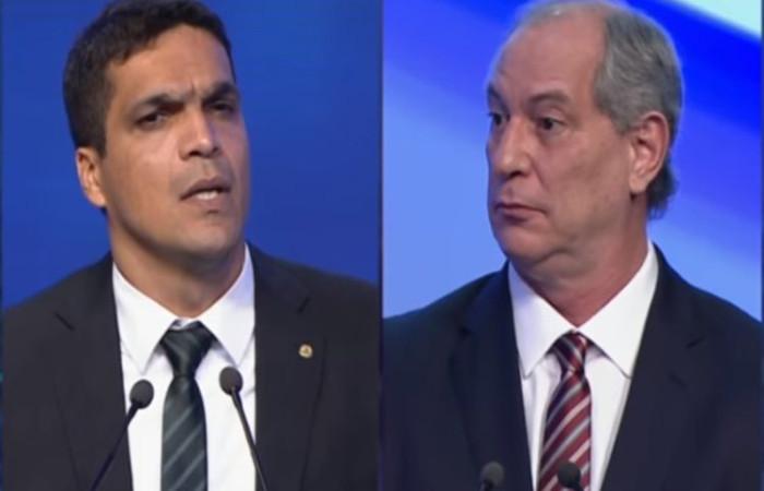 Momento em que mostra Ciro surpreso com a pergunta do Cabo. Foto: Reprodução/Internet