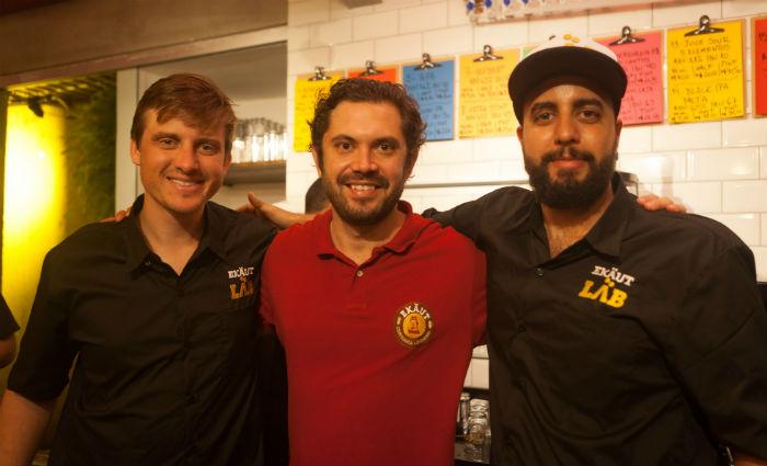 Sócios André Turton, Diogo Chiaradia e Bruno Paes querem se aproximar dos clientes. Foto: Ekäut/Divulgação