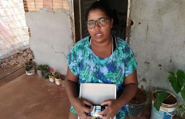 foto: Ingrid Soares/CB/D.A Press. Andresa Batista, 29 anos, auxiliar de lavoura (foto: Ingrid Soares/CB/D.A Press)