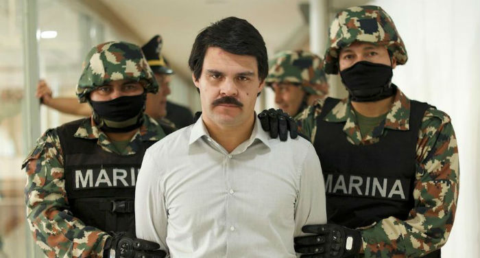 Em janeiro do ano passado, o presidente mexicano Enrique Peña Nieto entregou El Chapo às autoridades norte-americanas. Foto: Netflix/Divulgação.
