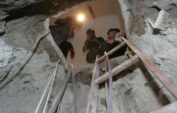 Túnel usado para realizar o furto, em 2005 (foto: Tuno Vieira/Diario do Nordeste/Agencia O Globo)