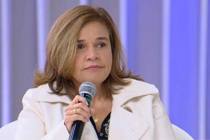 Sobre uma possível volta à Globo, ela disse que não chegou a se oferecer, mas veria a situação com bons olhos (foto: Reprodução RedeTV!)