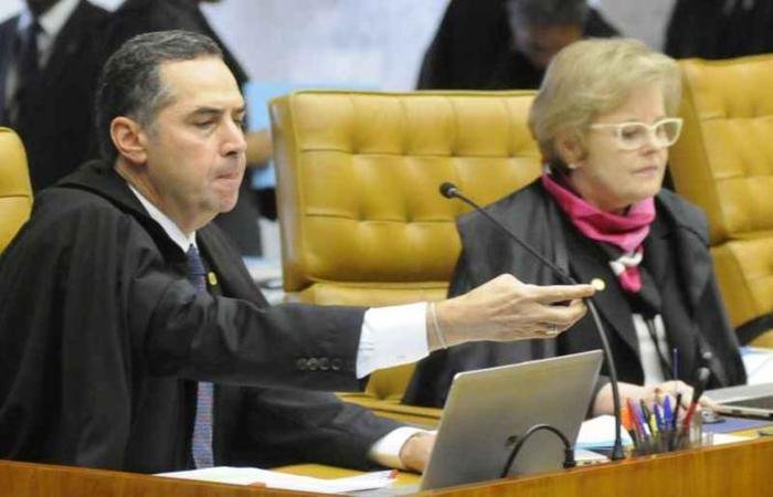 O ministro Luís Roberto Barroso pediu à presidente do TSE, Rosa Weber, para ser mantido na relatoria do registro de Lula como candidato (foto: Carlos Moura/CB/D.A Press)