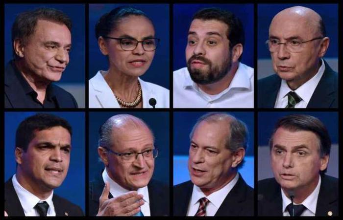Postulantes ao Planalto vão participar hoje de um debate na RedeTV, emissora à qual a TV Brasília é afiliada (foto: Nelson Almeida/AFP)
