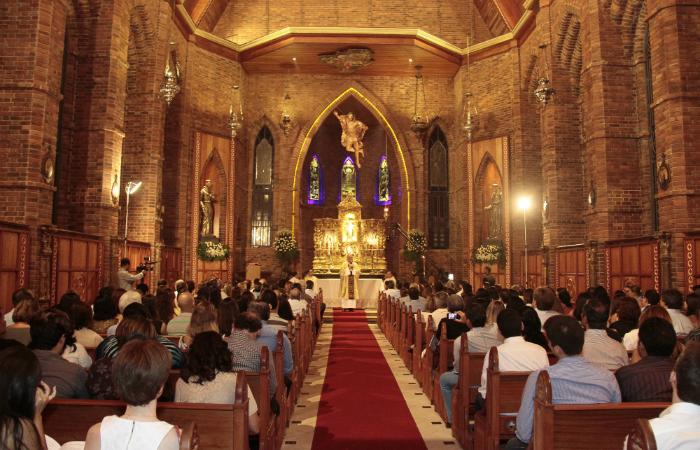 Capela Nossa Senhora das Gracas localizada no Instituto Ricardo Brennand. Foto: Gleyson Ramos/Divulgação