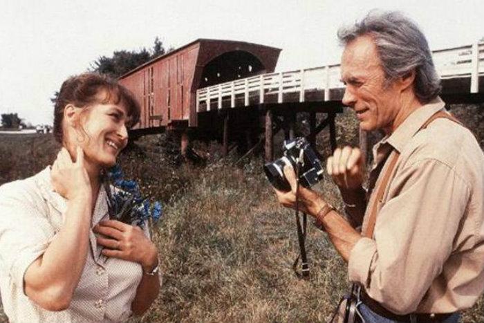 As Pontes de Madison é estrelado por Clint Eastwood e Meryl Streep. Foto: Reprodução
