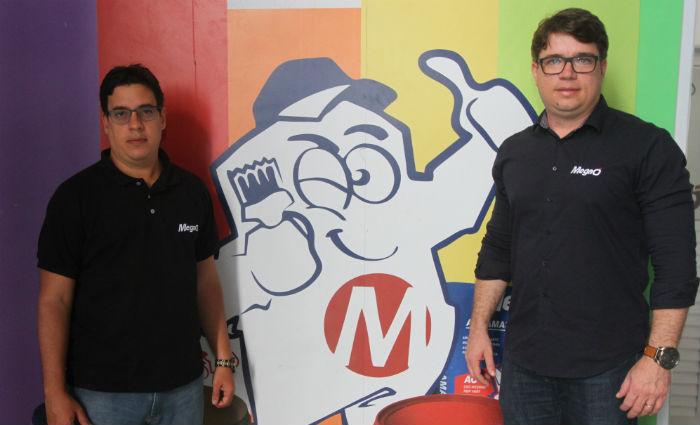 Os sócios Fernando Miranda e Antônio Brito esperam que a MegaÓ cresça 25%. Foto: Nando Chiappetta/DP