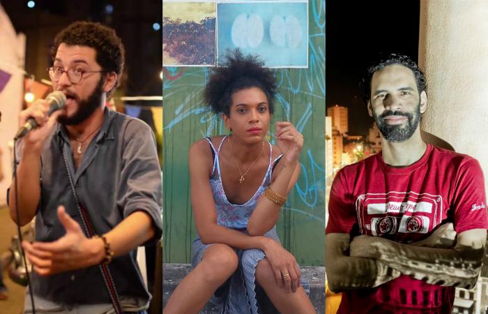 Tonfil, Sophia Williams e Vinicius Lezo. Foto: YouTube, Facebook e Music Non Stop/Reprodução